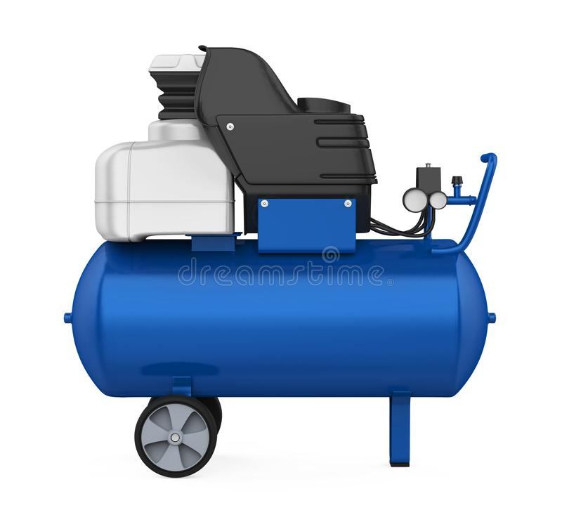 Isolerad luftkompressor stock illustrationer