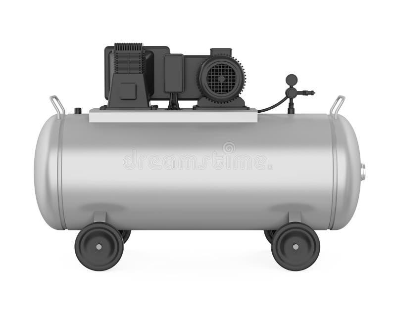 Isolerad luftkompressor vektor illustrationer