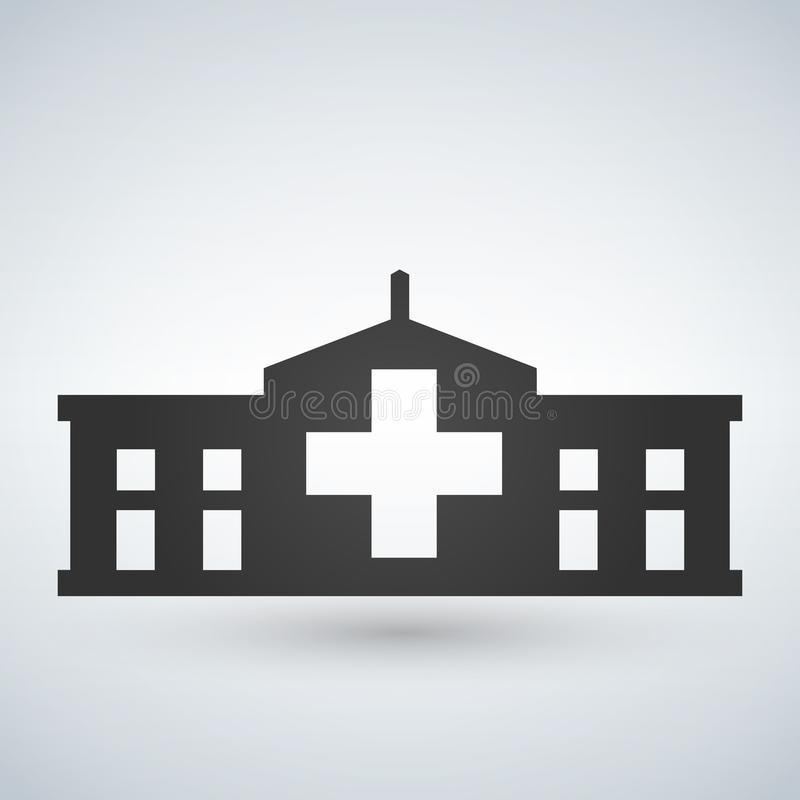 Isolerad mänsklig medicinsk sikt för sjukhussymbolskors byggnad vektor illustrationer