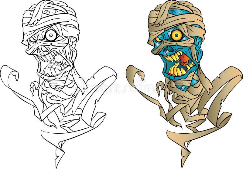 Isolerad mammafarao stock illustrationer