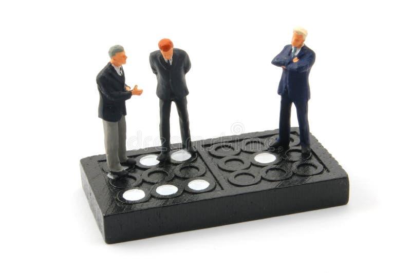 isolerad man för affär domino arkivfoto