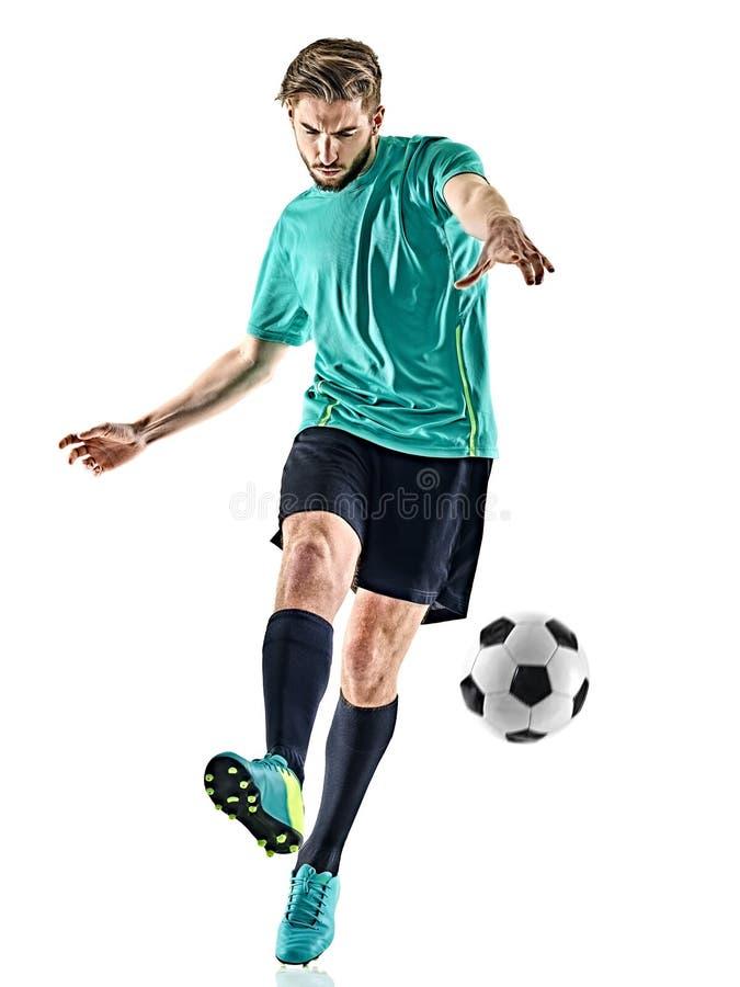 Isolerad man för fotbollspelare royaltyfri foto