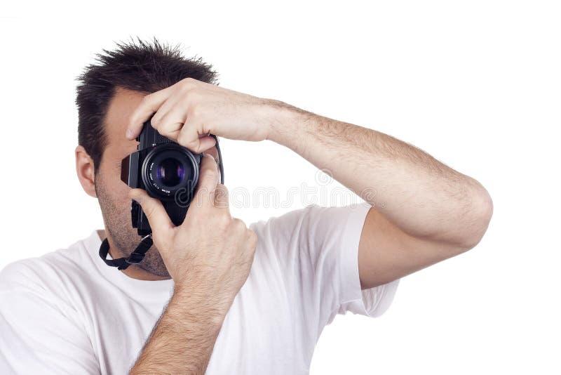 isolerad manfotografi arkivfoto