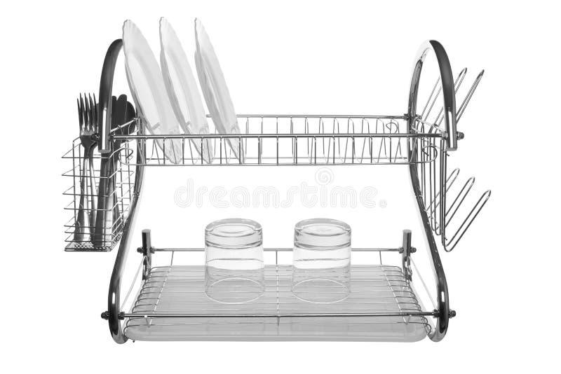 Isolerad maträttavloppsränna arkivbilder