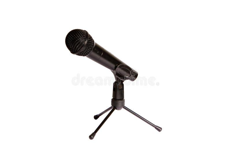 isolerad mikrofonstudio royaltyfri fotografi