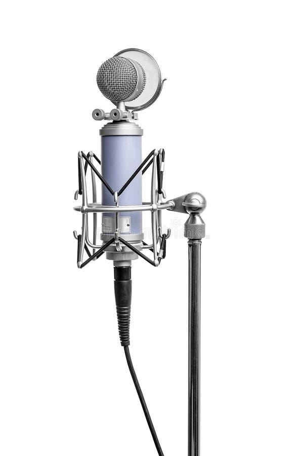 isolerad mikrofontappning royaltyfri bild