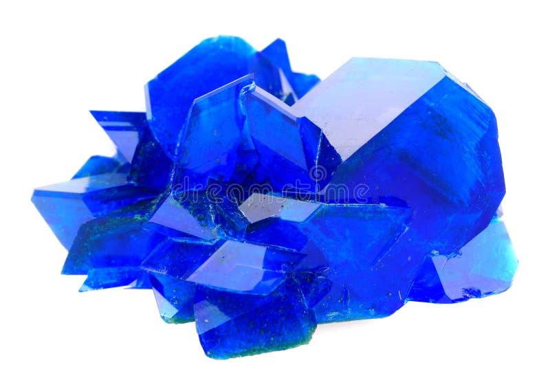 Isolerad mineral för blå vitriol arkivbild