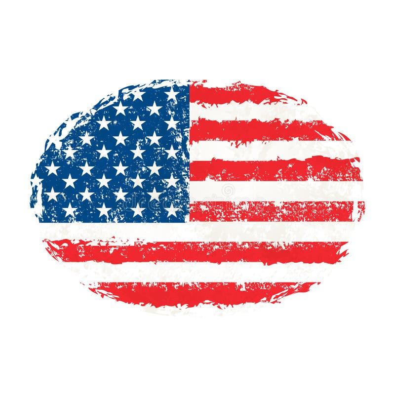 isolerad minnes- white för affischtavla dag Minns och hedra Amerikansk ferie för vektorllustration amerikanska flaggan Självständ royaltyfri illustrationer