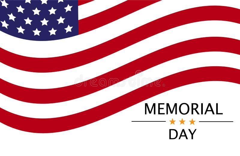isolerad minnes- white f?r affischtavla dag vektorbakgrund med amerikanskt symboliskt royaltyfri illustrationer