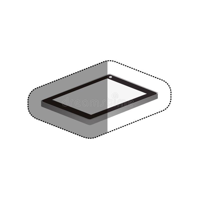 Isolerad minnestavlaapparatdesign stock illustrationer