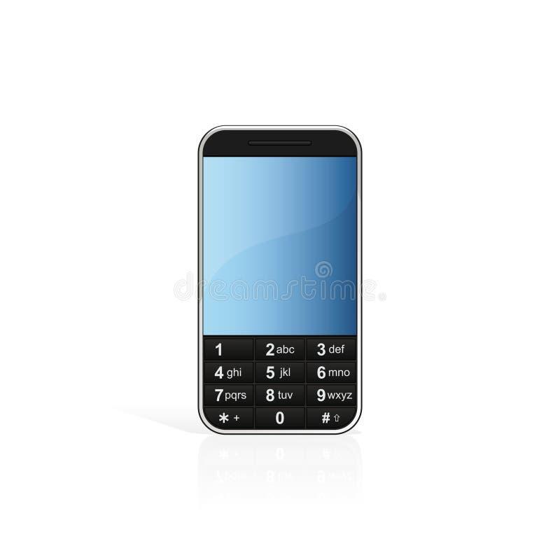 isolerad mobil telefon royaltyfri illustrationer