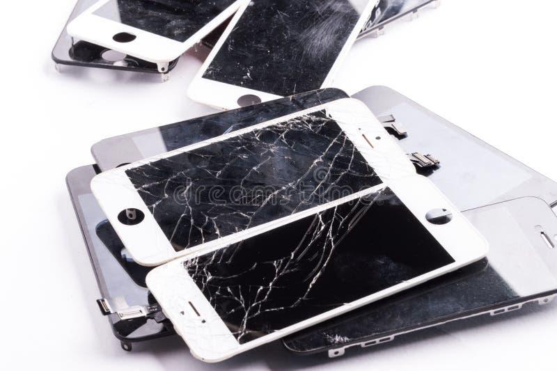 Isolerad mobiltelefonmainboard arkivfoton
