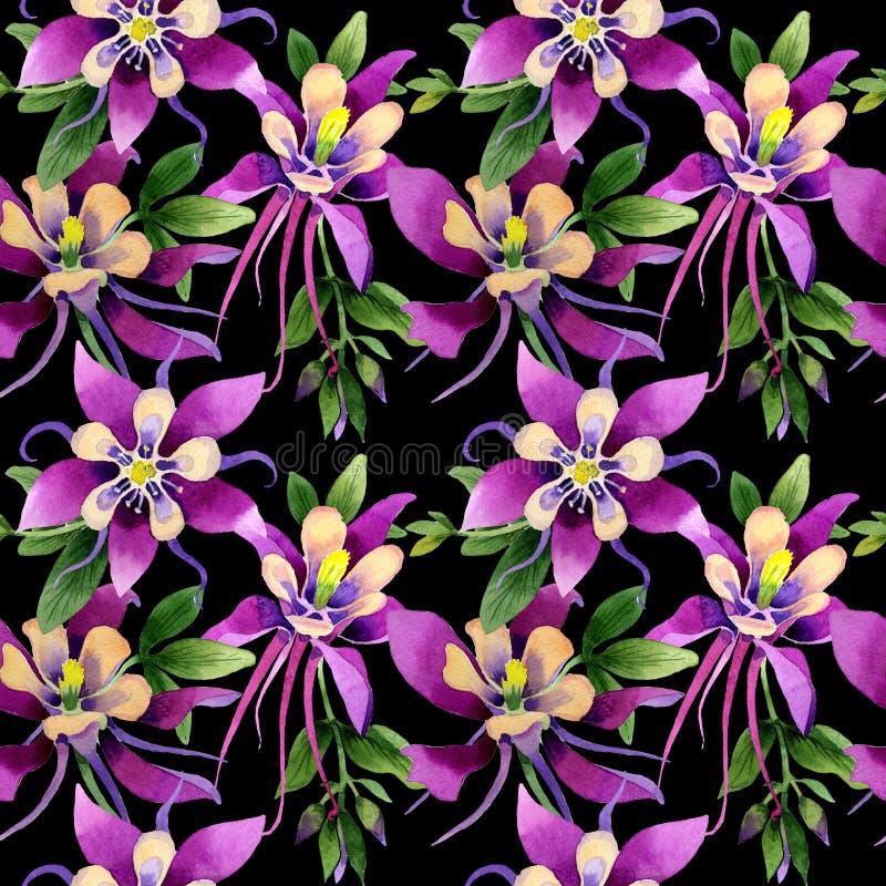 Isolerad modell för vildblommaorkidéblomma i en vattenfärgstil royaltyfri illustrationer
