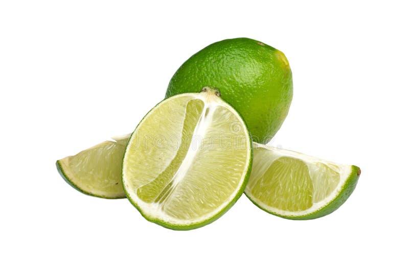 Isolerad mogen limefrukt royaltyfri foto