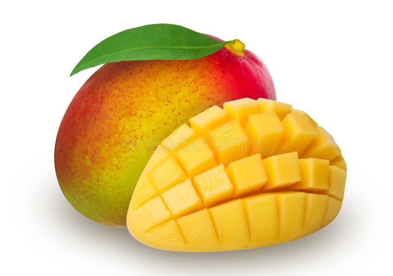 Isolerad mogen mango royaltyfria bilder