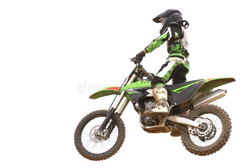 isolerad motocross arkivbild