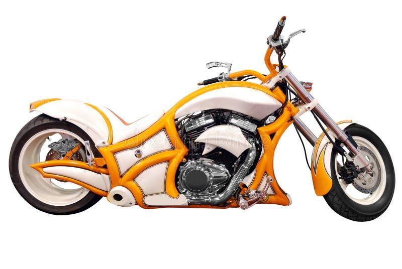 isolerad motorcykel royaltyfria bilder