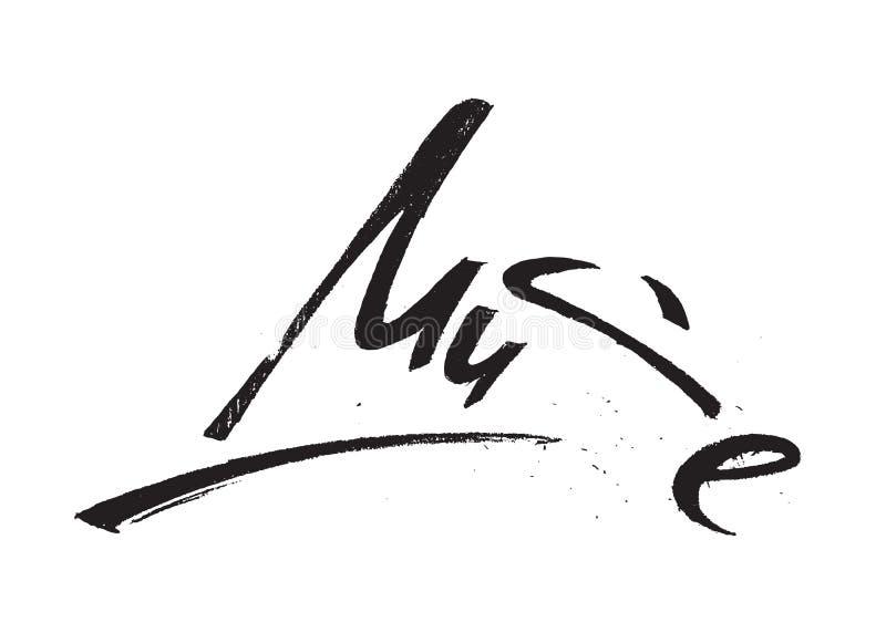 Isolerad Muse Lettering Brushpen Hand Draw Grunge vektor illustrationer