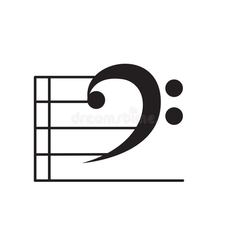 Isolerad musikal inte stock illustrationer
