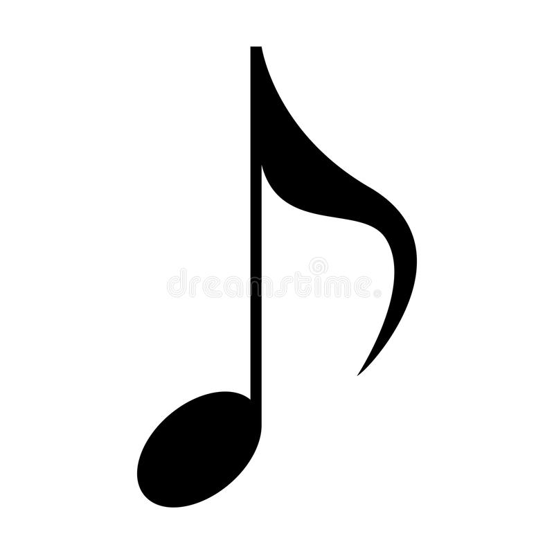 Isolerad musikalisk anmärkning vektor illustrationer