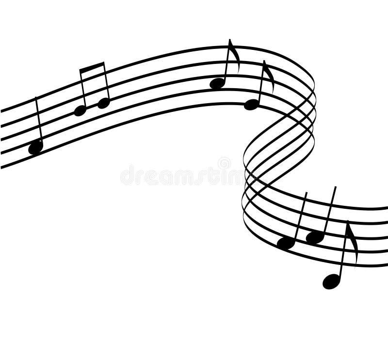 isolerad musikvektor stock illustrationer