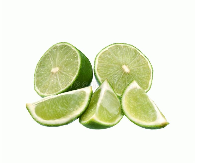 Isolerad ny mogen limefrukt fotografering för bildbyråer