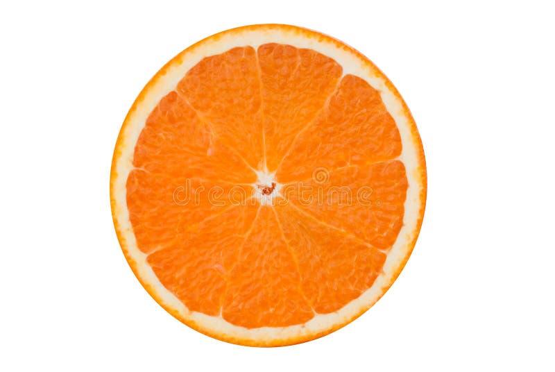 isolerad orange för frukt hälft arkivbilder