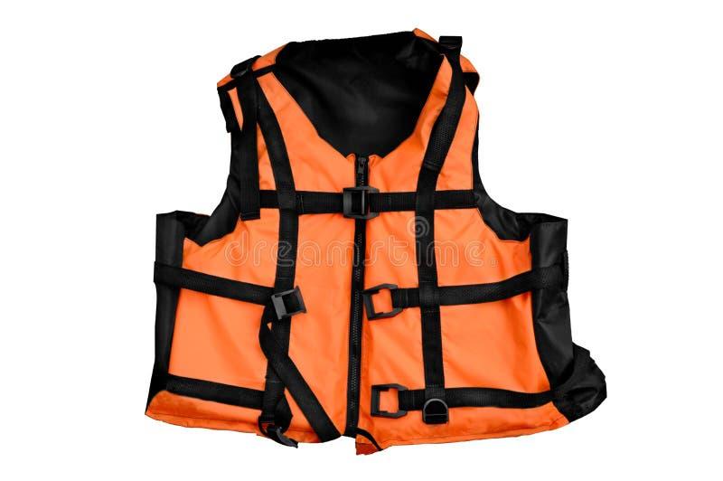 isolerad orange vest för livstid royaltyfri foto