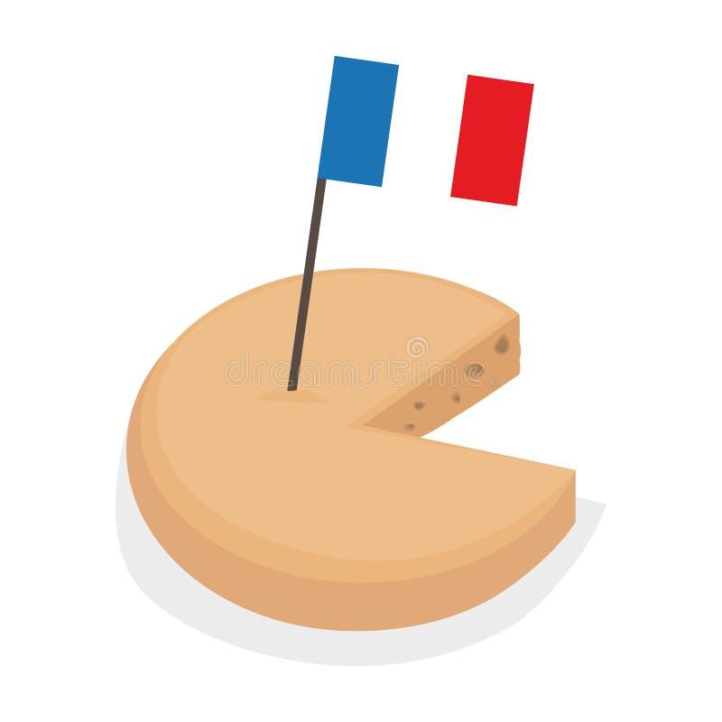 Isolerad ost med en flagga vektor illustrationer