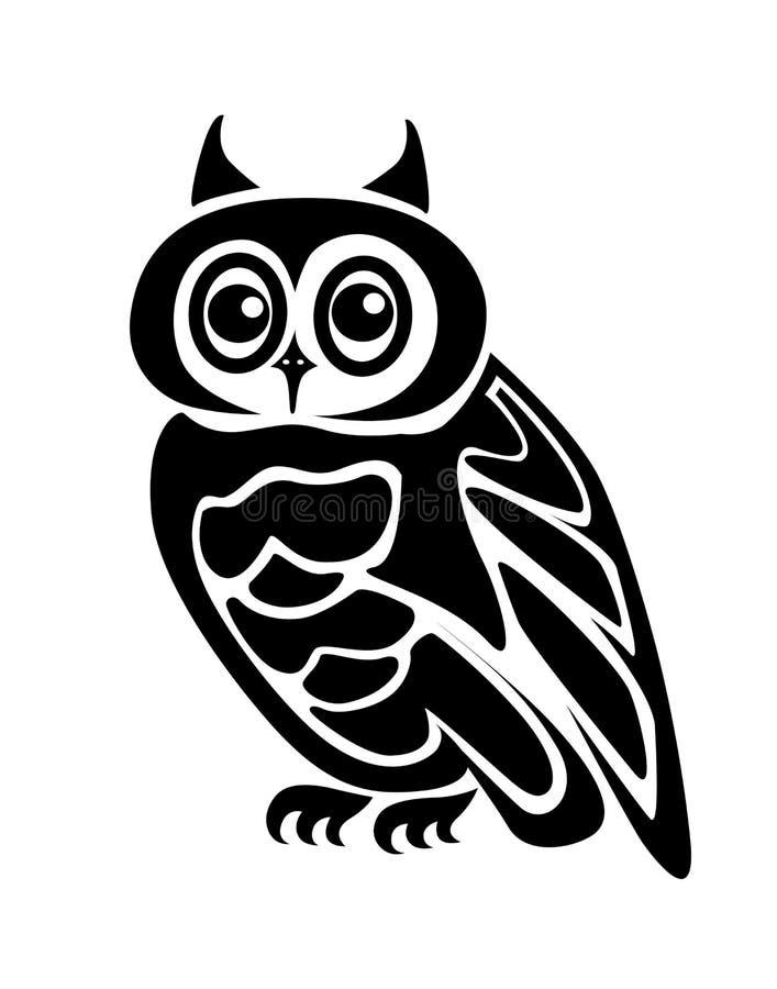 isolerad owl stock illustrationer