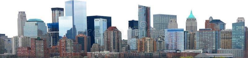Isolerad panorama för stadshorisontbaner royaltyfri bild