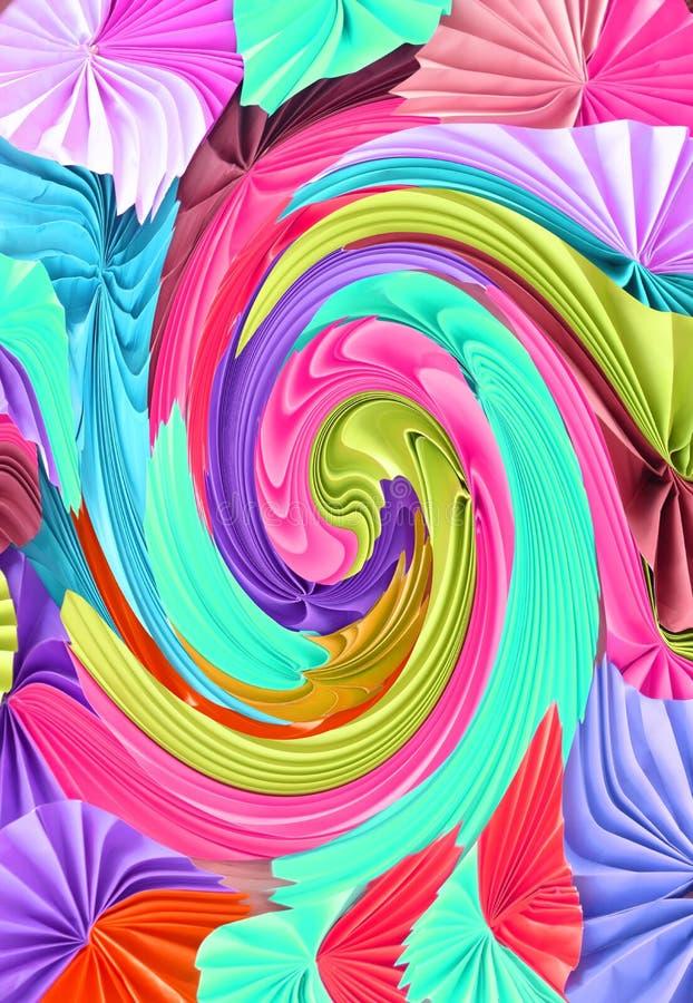 isolerad paper studio för bakgrund färgrika ventilatorer stock illustrationer