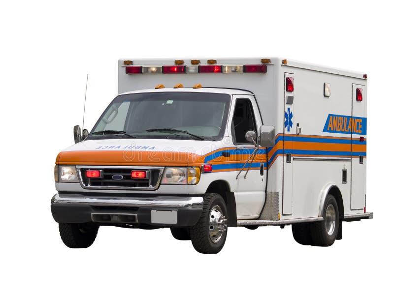 isolerad paramedicinsk skåpbil royaltyfria foton