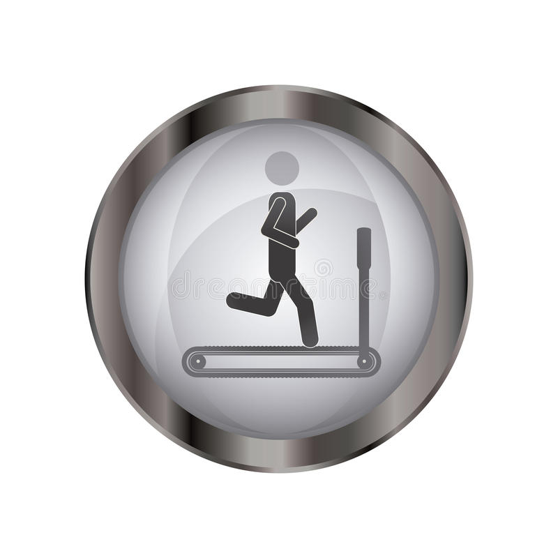 Isolerad pictogram som gör övningsdesign stock illustrationer