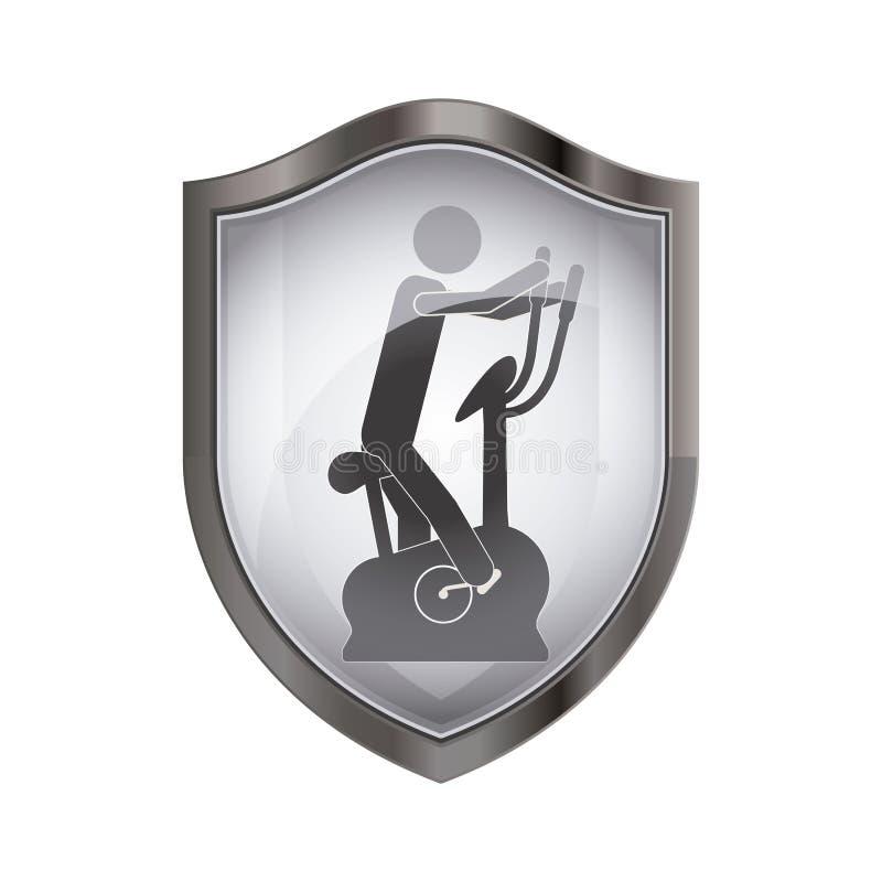 Isolerad pictogram som gör övningsdesign royaltyfri illustrationer
