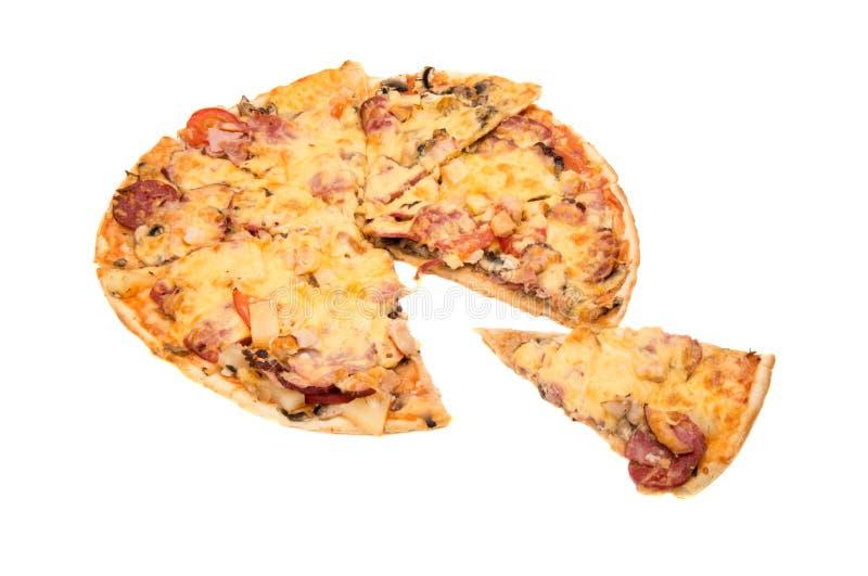 isolerad pizza royaltyfri foto
