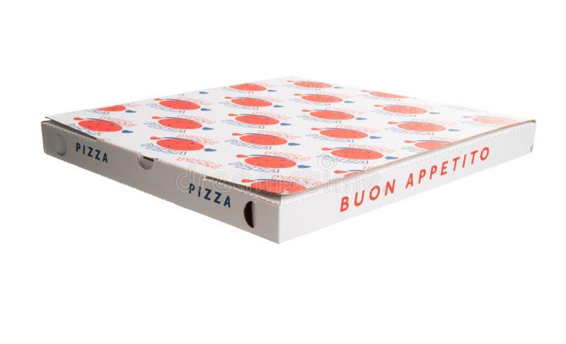Isolerad pizzaask royaltyfri bild