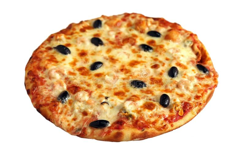 isolerad pizzawhite arkivbild
