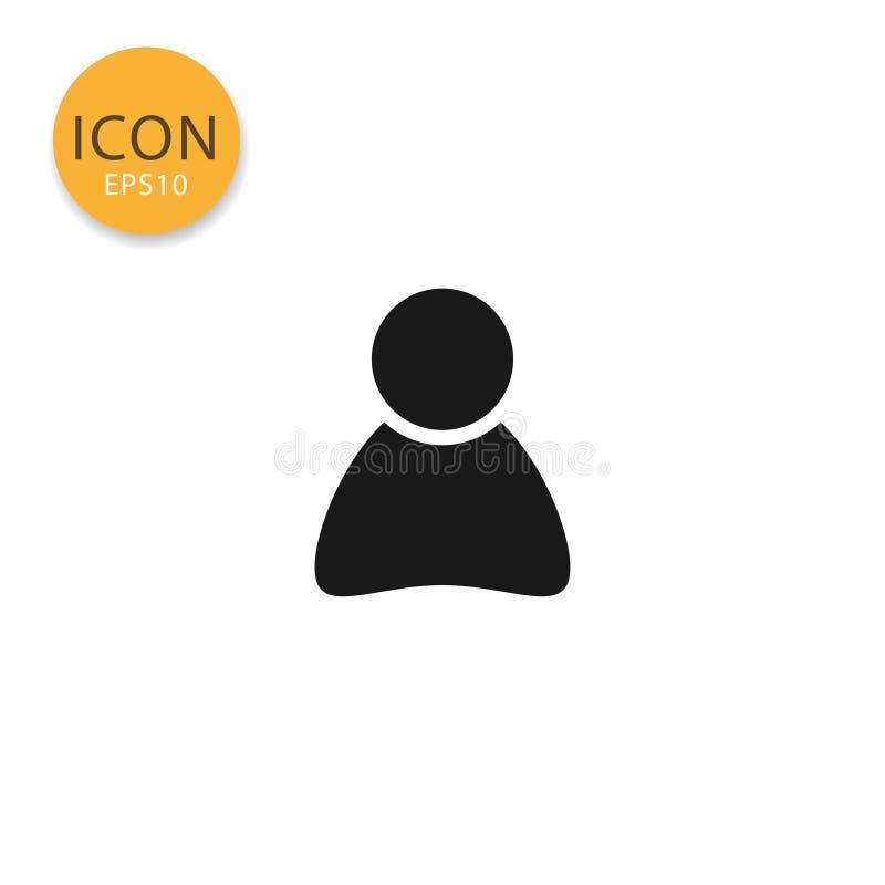 Isolerad plan stil för användareprofil symbol vektor illustrationer