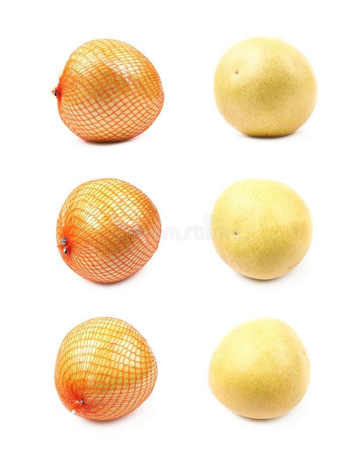 Isolerad Pomelograpefrukt royaltyfri foto