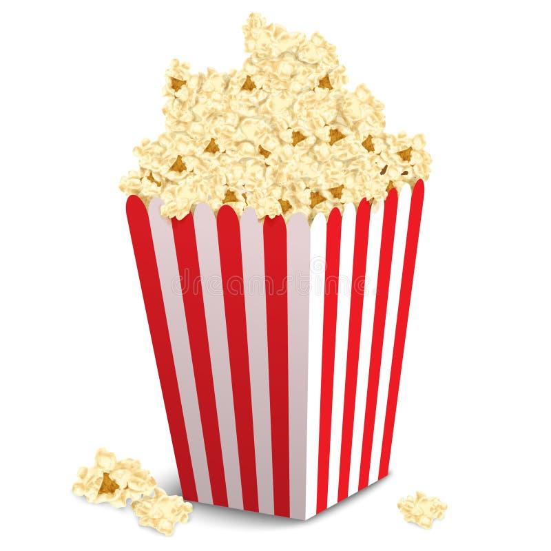 Isolerad popcornask stock illustrationer