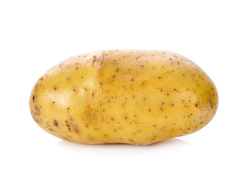 isolerad potatiswhite arkivbild