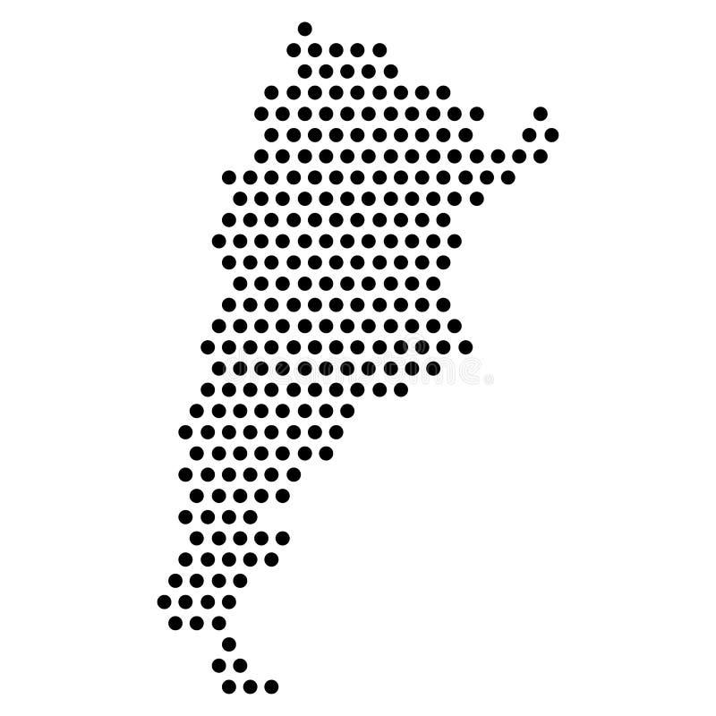 Isolerad prickig politisk översikt av Argentina stock illustrationer