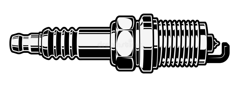 isolerad proppspark vektor illustrationer