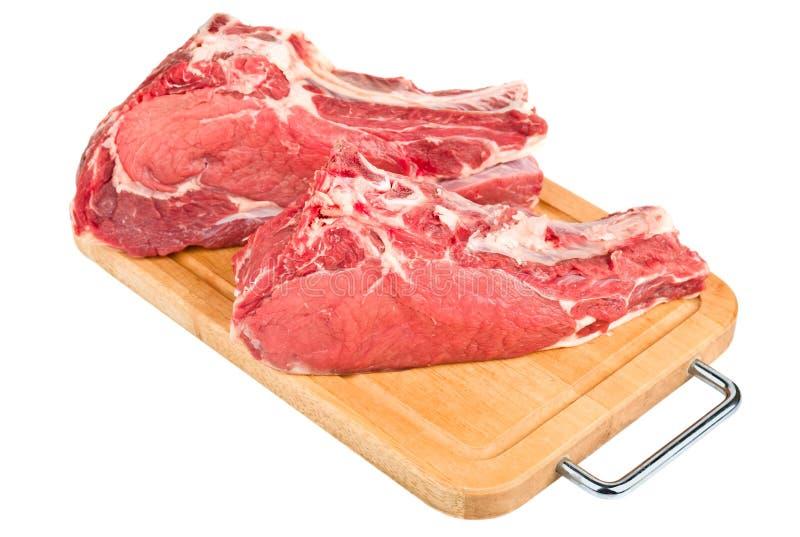 Isolerad rå meat royaltyfri fotografi