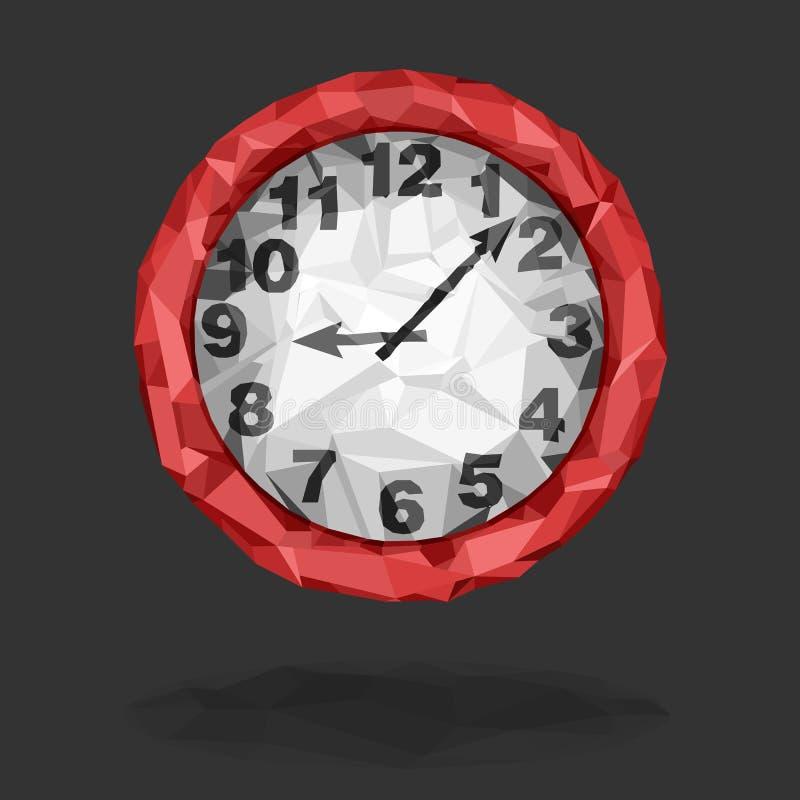 Isolerad röd klocka stock illustrationer