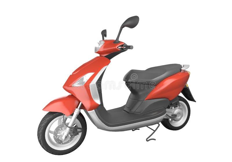 isolerad röd sparkcykel stock illustrationer
