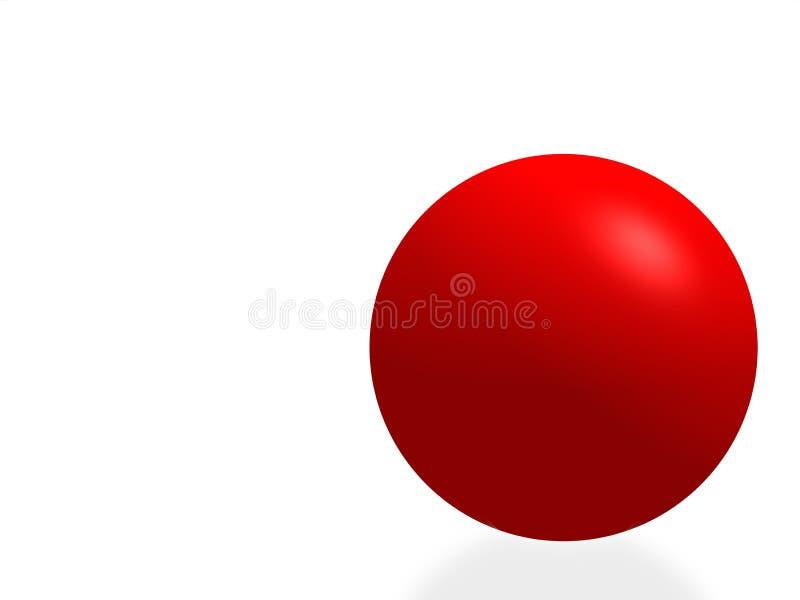 isolerad röd sphere vektor illustrationer