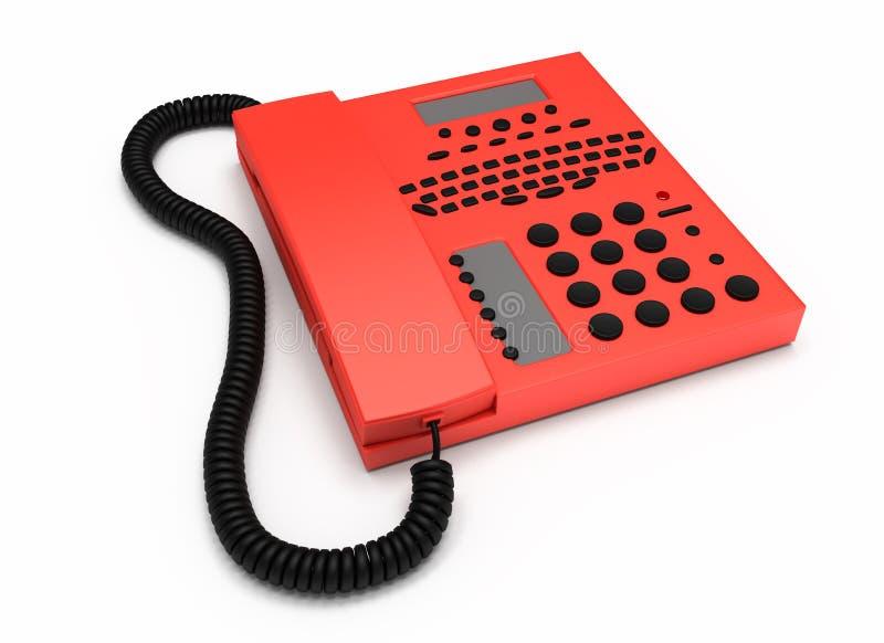 Isolerad röd telefon royaltyfri foto