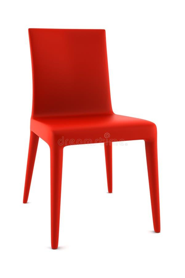 isolerad röd white för bakgrund stol arkivfoto